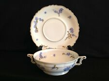 Haviland Limoges Montmery (Forget Me Nots) One (1) Cream Soup Bowl & Saucer Set