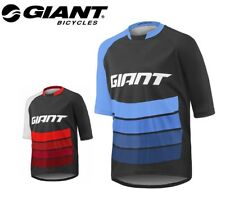 Giant Transfer Ss MTB Cycling Jersey - Black Red, Black Blue - S, M