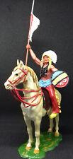ELASTOLIN chef indien tenant une lance sur son cheval