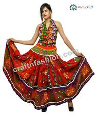 Indian Traditional Embroidered Boho Gypsy Tribal Style Girl's Skirt -Megh Craft