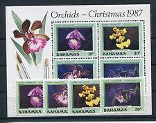 Bahamas 663/69 Block 52 postfrisch / Orchideen ...........................1/1292