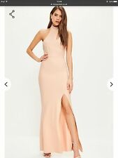 Missguided Nude Choker Neck Maxi Dress. Size 6.