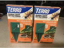 TERRO T1814MX Outdoor Liquid Ant Killer Bait Stakes - 8 Traps 2 Boxes!