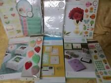 Martha Stewart Craft Lot #1 Crepe Roses Stamp Kit Glitter set Favor Bags & boxes