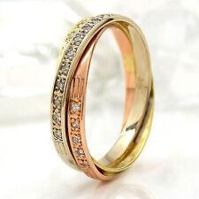 Markenlose runde Ringe aus mehrfarbigem Gold mit Diamanten