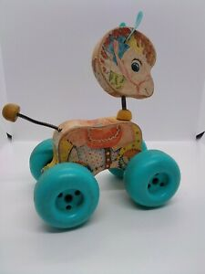 Vintage Fisher Price 1960's Patch Pony Pull Toy