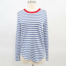 COS Womens T-Shirt Tee Top Womens Striped Blue White Red Crewneck Cotton