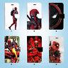 Deadpool hero Wallet Case Cover Samsung Galaxy S3 4 5 6 7 8 Edge Note Plus 050