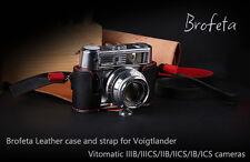 Brofeta leather case/bag and strap or Voigtlander Vitomatic IIIB/IIB/IIICS/IICS