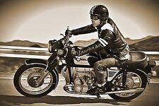 BMW R75/5 RETRO MOTORCYCLE  POSTER 20 X 30 DIGITAL PHOTOGRAPHY PRINT