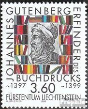 Liechtenstein 1223 gestempeld 1999 Gutenberg