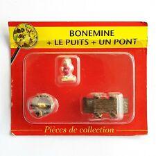 MINI FIGURINE PLOMB VILLAGE ASTERIX PLASTOY ATLAS N°12 BONEMINE PUITS PONT