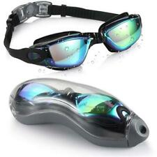 Olympic Nation Pro Swim Goggles Black with Clear Vision UV Shield Anti-Fog