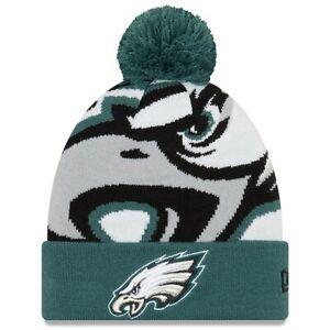 Philadelphia Eagles New Era Youth Midnight Green Logo Whiz 3 Cuffed Knit Hat