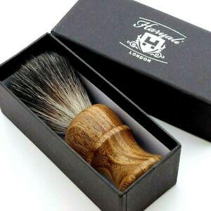 Shaving Brush Pure Wooden Handle & Black Synthetic Hair Bristles