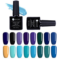UR SUGAR 7.5ml UV Gellack Soak Off Blau Schwarz Serie LED Gel Nagellack Nail Art