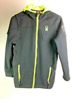 SPYDER BLACK YELLOW HOODED CORE SWEATER JACKET SIZE KIDS XL EXTRA LARGE