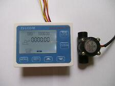 "2017 Hall effect G1/2"" Flow Water Sensor Meter+Digital LCD Display control"