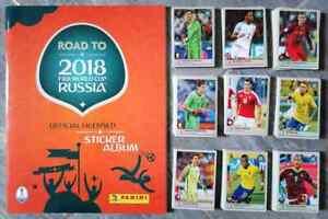 ROAD TO RUSSIA 2018 FIFA WORLD CUP PANINI empty album + complete stickers set