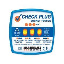 Cheque Martindale CP501 Enchufe Tester comprobar la seguridad de su Enchufe Enchufes