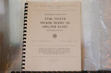 Hickok 560 Tube Tester Manual Reprint With Complete Test Data