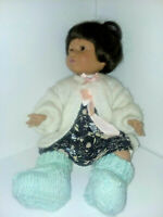 Playmates Baby So Beautiful Doll 1995 Brown Hair eyes and Skin Vintage Rare DT10