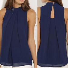 Femmes manches en mousseline de soie Blouse Shirt Tops chemises Taille Plus IU