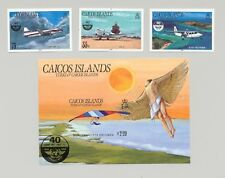 Caicos #70-73 ICAO, Aviation 3v & 1v S/S Imperf Proofs