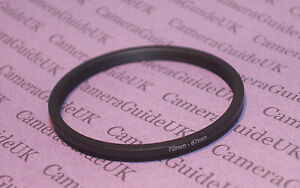 72mm to 67mm Male-Female Stepping Step Down Filter Ring Adapter 72mm-67mm
