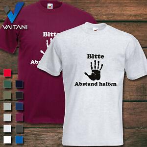 Bitte Abstand halten Stoppt Corona Hand Shirt Bedruckt Farbig Pandemie Geschenk