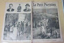 Le petit parisien 1892 195 Abomey Dahomey les bouquinistes à Paris