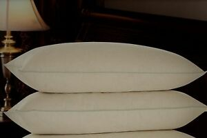 2 x Layered Filled Extra Soft Hotel Quality Pillows Cotton Cambric Soft As Down