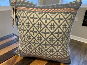 HINES of Oxford Nordic Wool Decorative Pillow Christmas