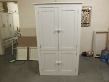 ALL PAINTED LINEN STORAGE CUPBOARD BESPOKE SIZES & COLOURS F&B STRONG WHITE