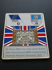 BMW Car Club 40 Years  and 30th International Club Meeting Chatham 1992 Plauqe