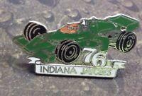 Indiana Jaycees Green Indy Race car vintage pin badge