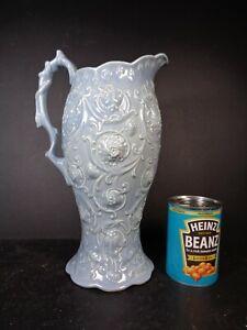 Royal Cauldon Pottery Part Raised Design Very Large Jug Vintage 1930s - 1950s