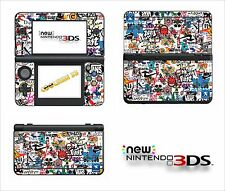 SKIN STICKER AUTOCOLLANT - NINTENDO NEW 3DS - REF 192 STICKER BOMB