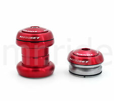 "mr-ride Token Headset  1-1/8"" 34mm tube,Threadless/Integrated (w/ top cap) Red"