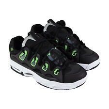 Osiris The D3 2001 1141 613 Mens Black Mesh Lace Up Athletic Skate Shoes