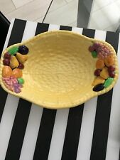 CARLTON WARE  FRUIT BASKET PATTERN --SALAD   BOWL