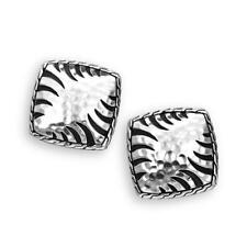 JOHN HARDY Palu Macan Sterling Silver Square Button Stud Earrings