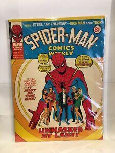 Spider-Man Comics Weekly No. 111 Marvel Comics Group UK Magazine 1975
