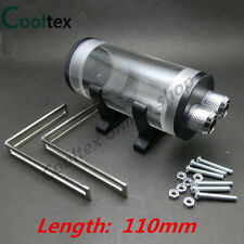 100% New 110mm Cylindrical Acrylic Water Tank For Computer Water Cooling Tank