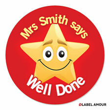 70 Personalised Teacher Reward Stickers | Well Done Pupil