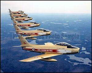 RCAF F-86 Sabre Golden Hawks 6-Ship Formation 1959 8x10 Aircraft Photos