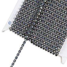 10 Yard SS10 AB Crystal Rhinestone Banding - Black - Trim Chain Roll Decor yz