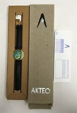 NEW Vintage Rare Akteo Golf Watch W/Leather Strap