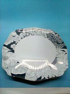 Target Liberty Of London Black & White Floral Square Melamine Dinner Plates (4)