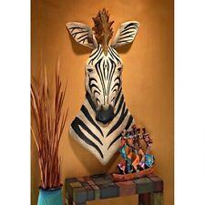 Distressed African Metal Zebra Wall Sculpture Savannah Animal Tribal Rustic Art